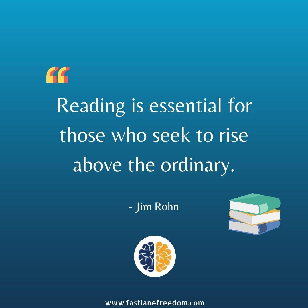 Jim Rohn quote on reading