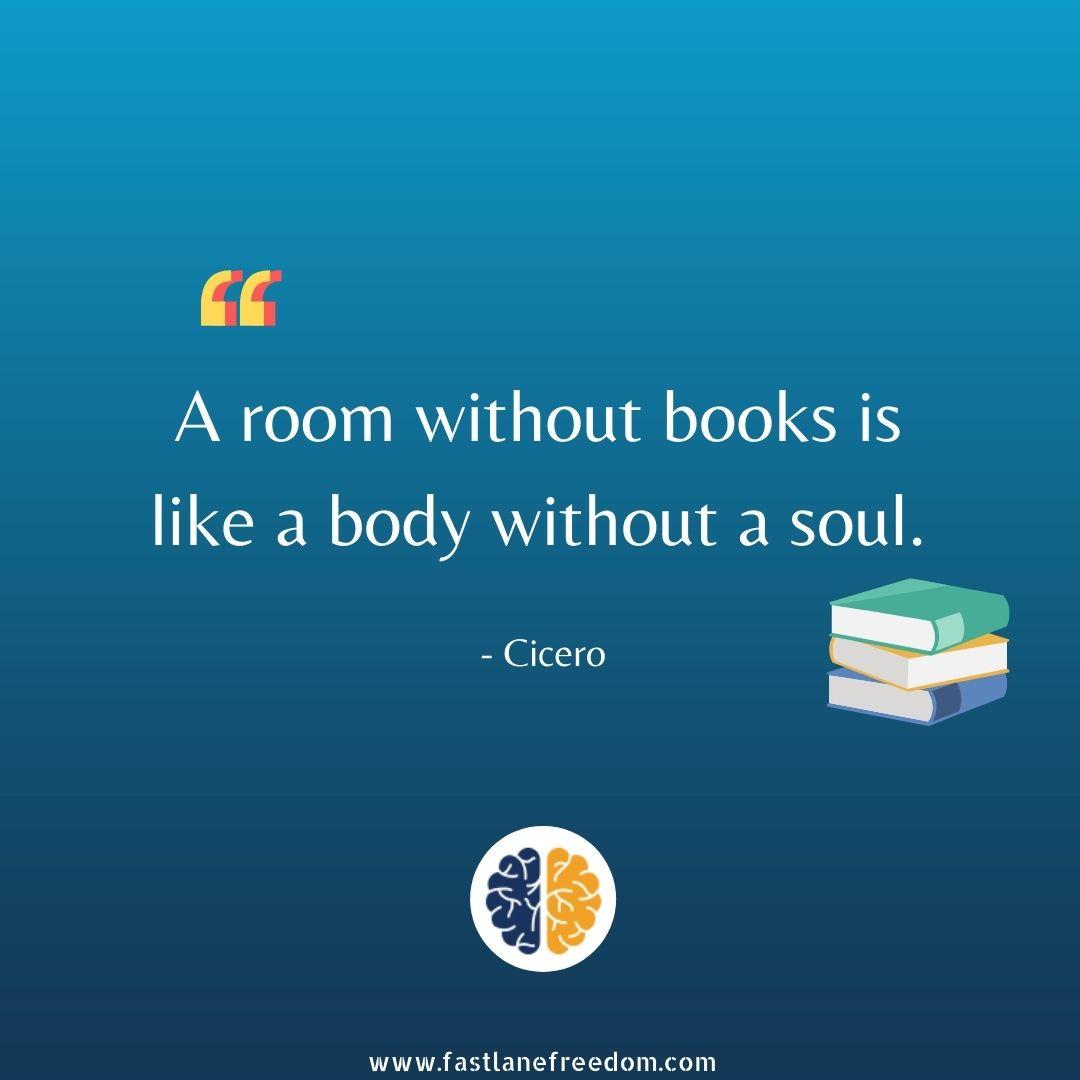 book in a room is like soul in body
