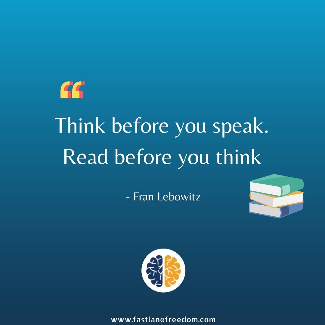 read before you speak